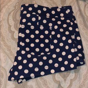 FOREVER 21 Navy blue  polka-dot shorts